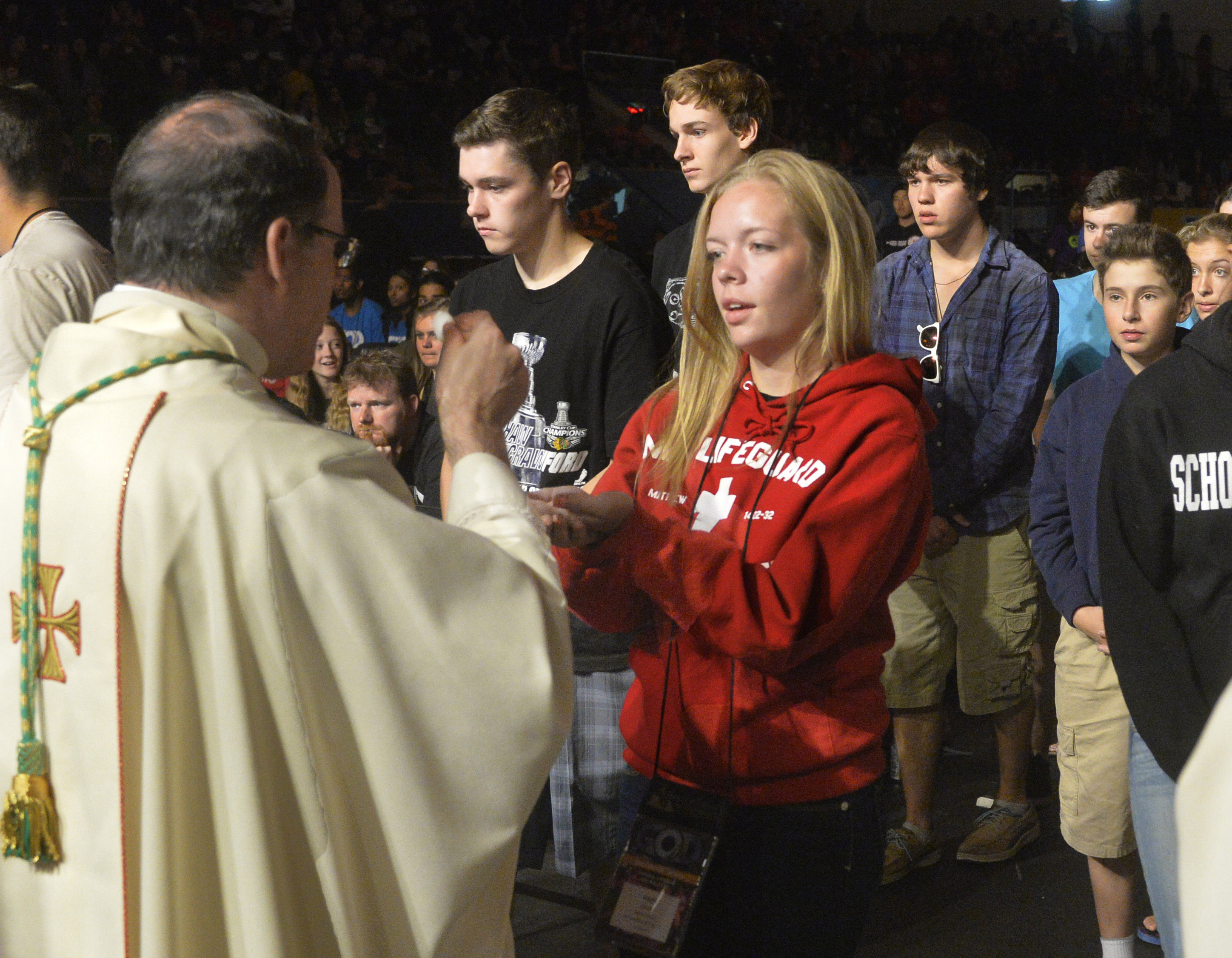 Communion,Host,Eucharist,youth,Catholic Mass,Steubenville-Toronto Conference,youth retreat,Faith experience,Holy Spirit,Catholic,religious,